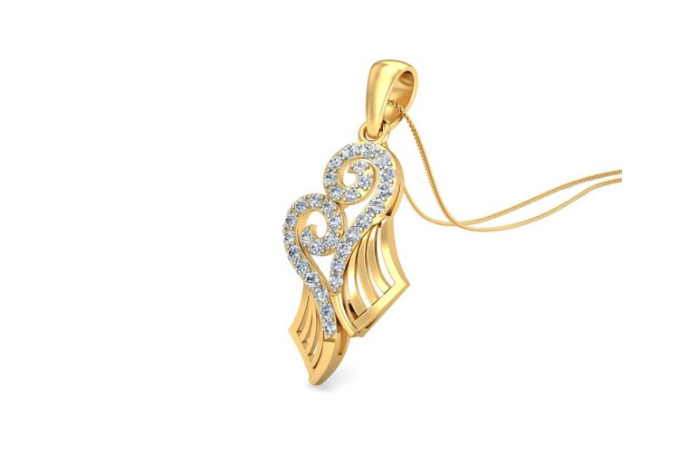 Sana Diamond Pendant in gold